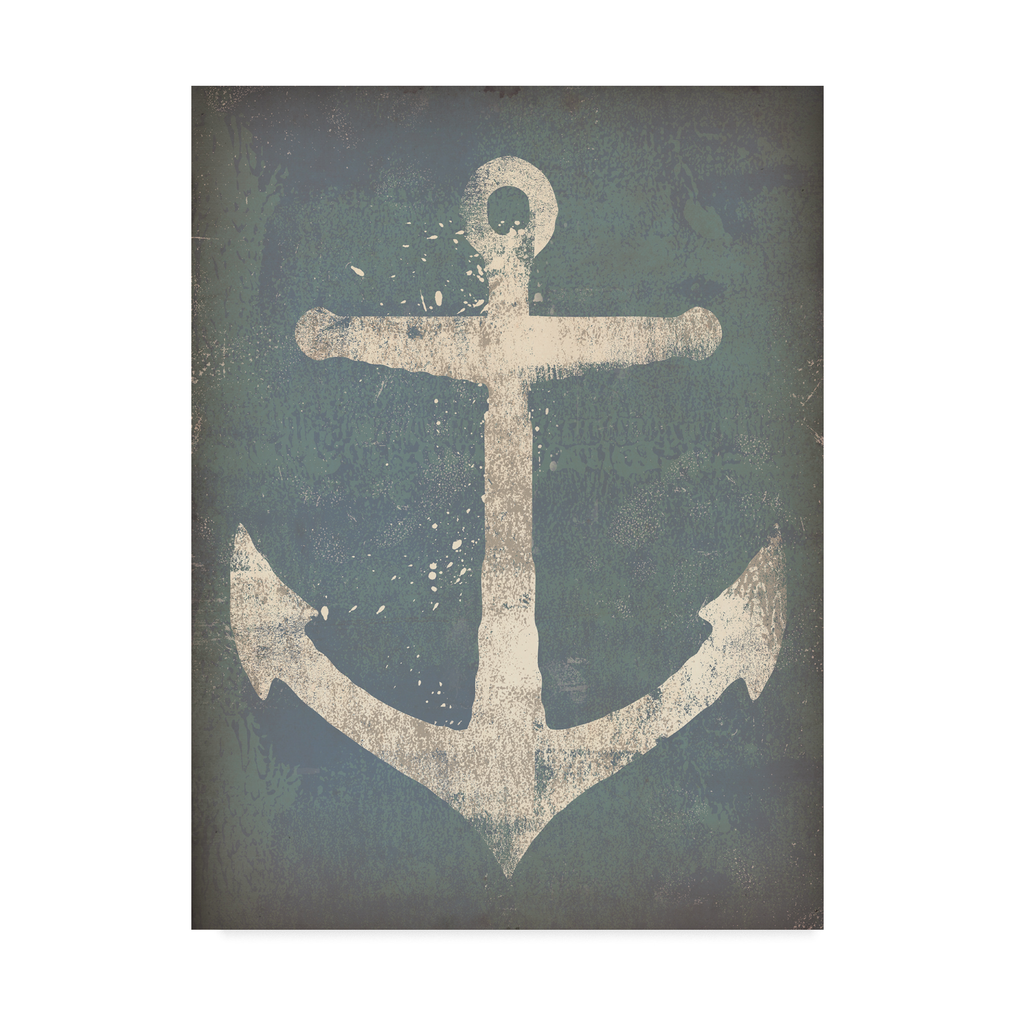 Trademark Fine Art 'Anchor on Teal' Canvas Art by Ryan Fowler