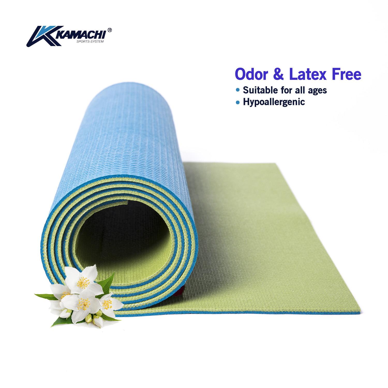 Green Natural Rubber Yoga Mat Outdoor//Indoor Mat Comfortable Non-Slip with Case