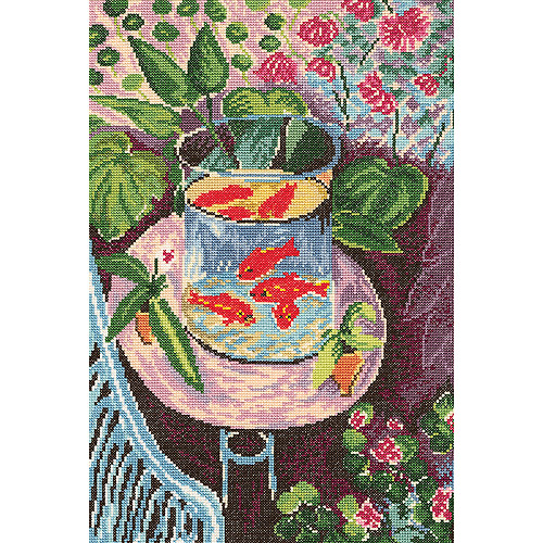 """Red Fish Counted Cross Stitch Kit, 9.75"""" x 14.5"""", 14 Count"""