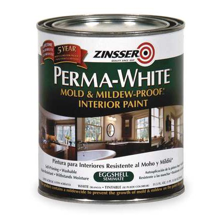 ZINSSER & CO Zinsser Perma-White Qt. White Mold & Mildew Proof Eggshell Interior Paint 02774
