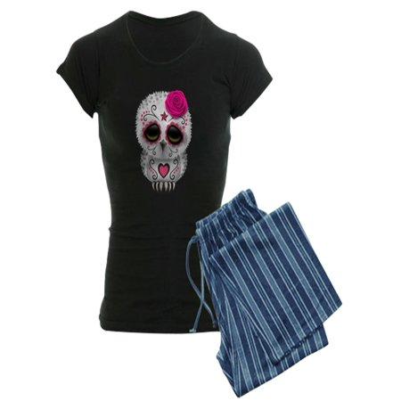 2fcb7dc9a18 CafePress - Pink Day Of The Dead Sugar Skull Owl Pajamas - Women s Dark  Pajamas