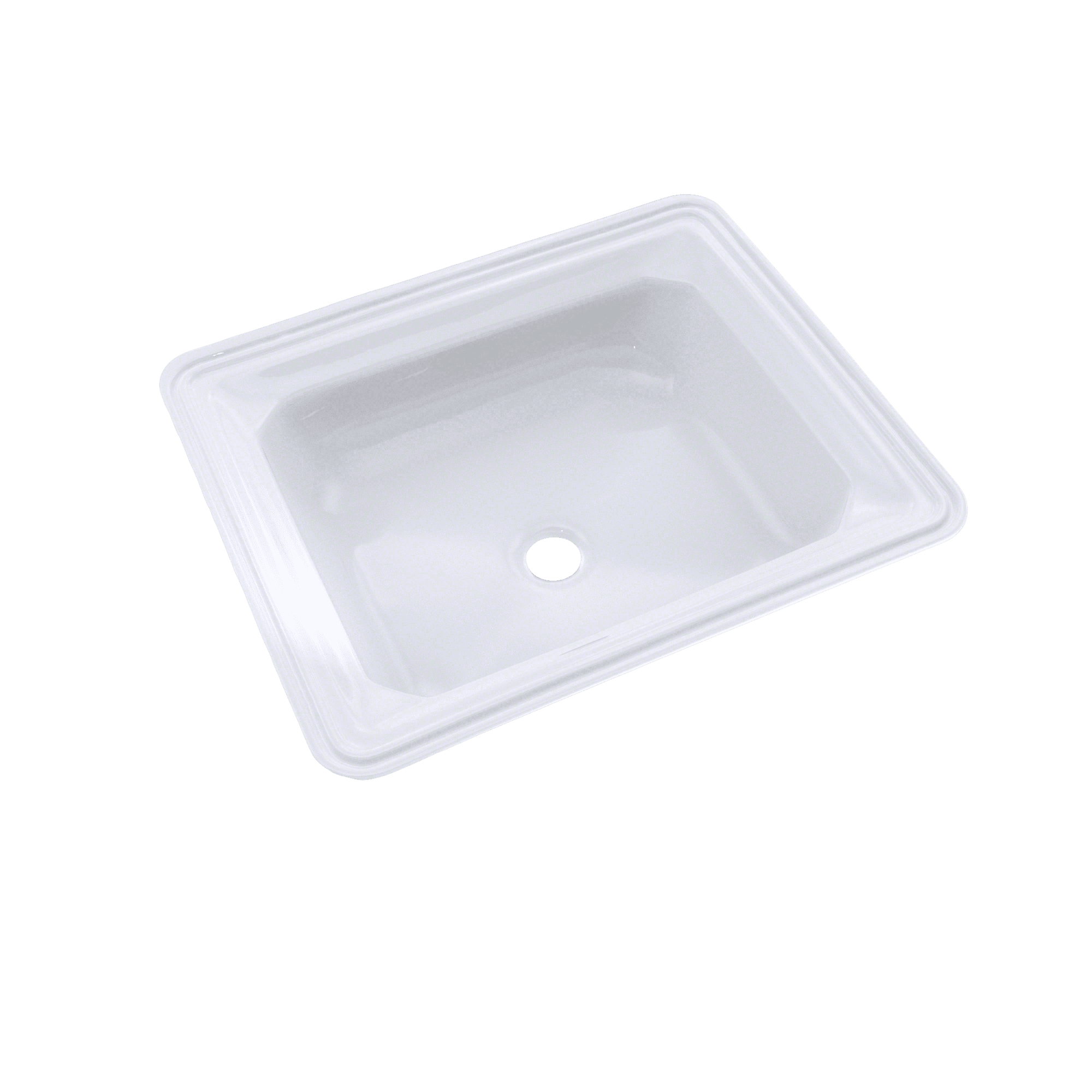 Toto guinevere rectangular undermount bathroom sink with cefiontect cotton white lt973g 01 for Toto undermount bathroom sink