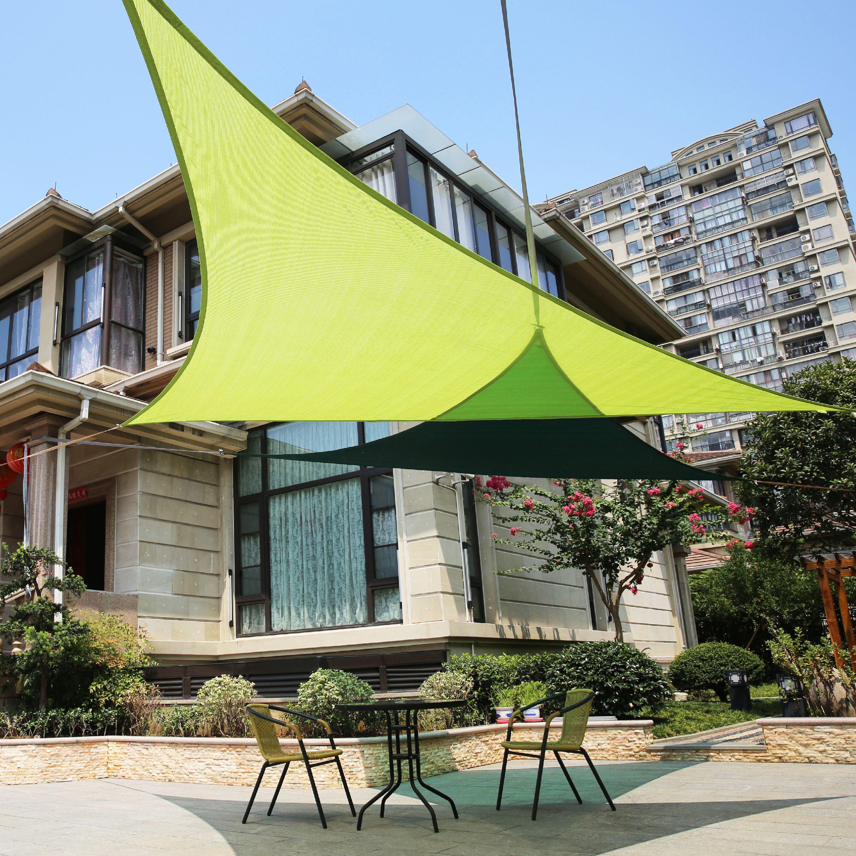 LyShade Right Triangle Sun Shade Sail Canopy UV Block for Patio
