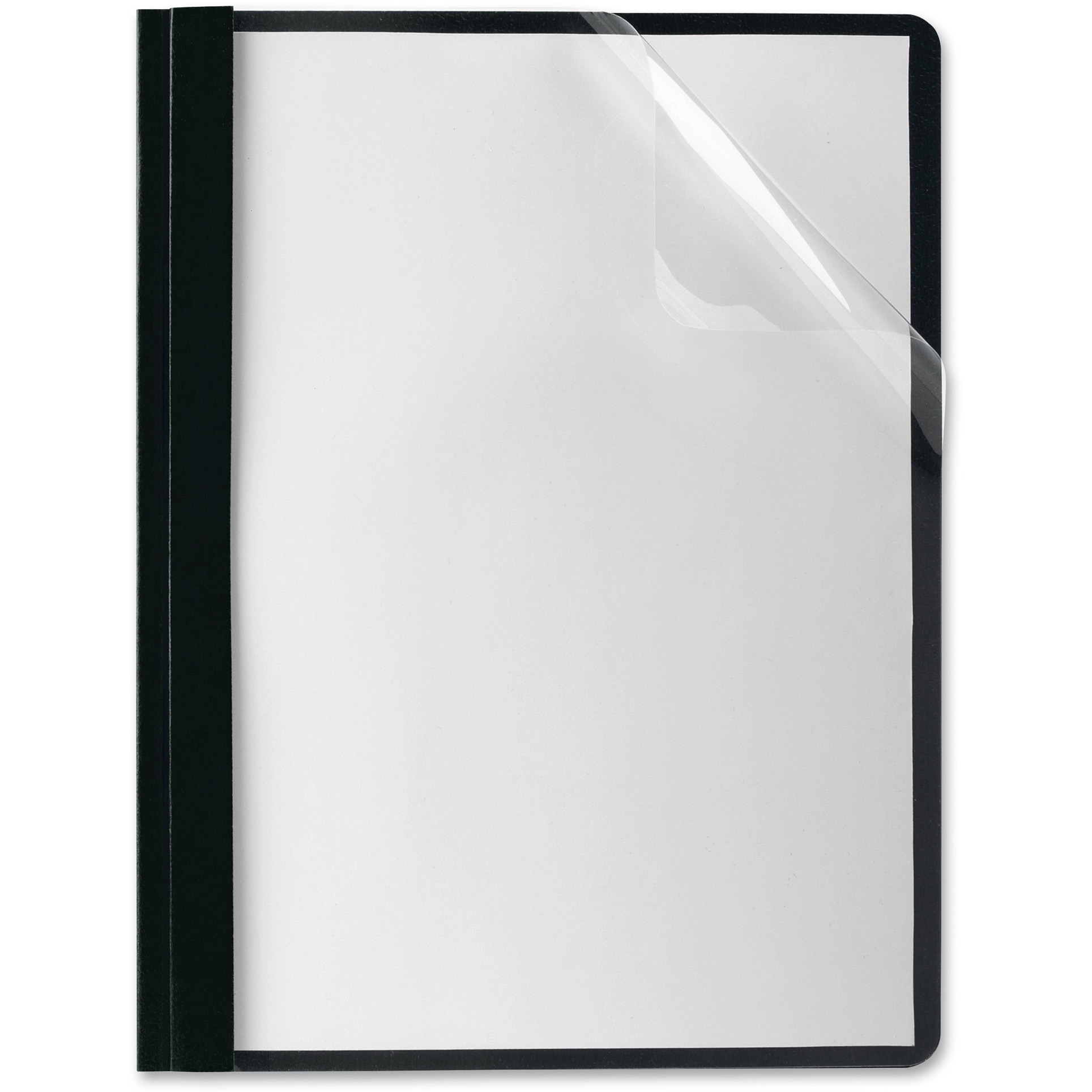 Oxford, OXF58806, Premium Clear Front Report Covers, 25 / Box, Black,Clear