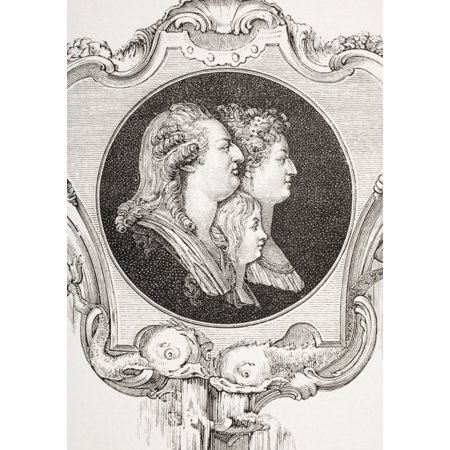 King Louis Xvi Of France His Wife Marie-Antoinette And The Dauphin Louis-Joseph From Xviii Siecle Institutions Usages Et Costumes Published Paris 1875 PosterPrint (Wife Costume Tumblr)
