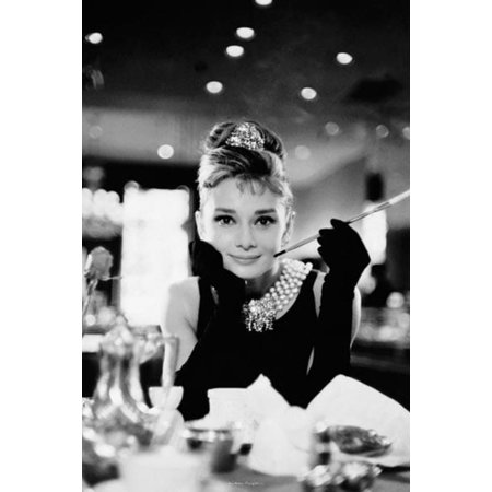 Audrey Hepburn Breakfast at Tiffanys Romantic Comedy Movie Film Holly Golightly Poster - 24x36 - Breakfast At Tiffanys Shoes