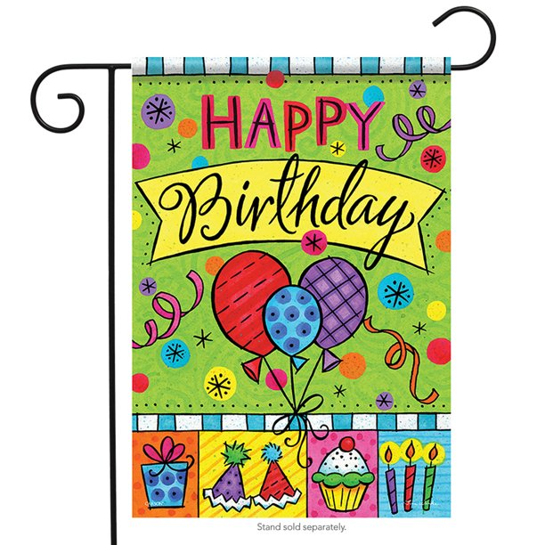 Happy Birthday Balloons Garden Flag Party Celebrate 13 X18 Walmart Com Walmart Com