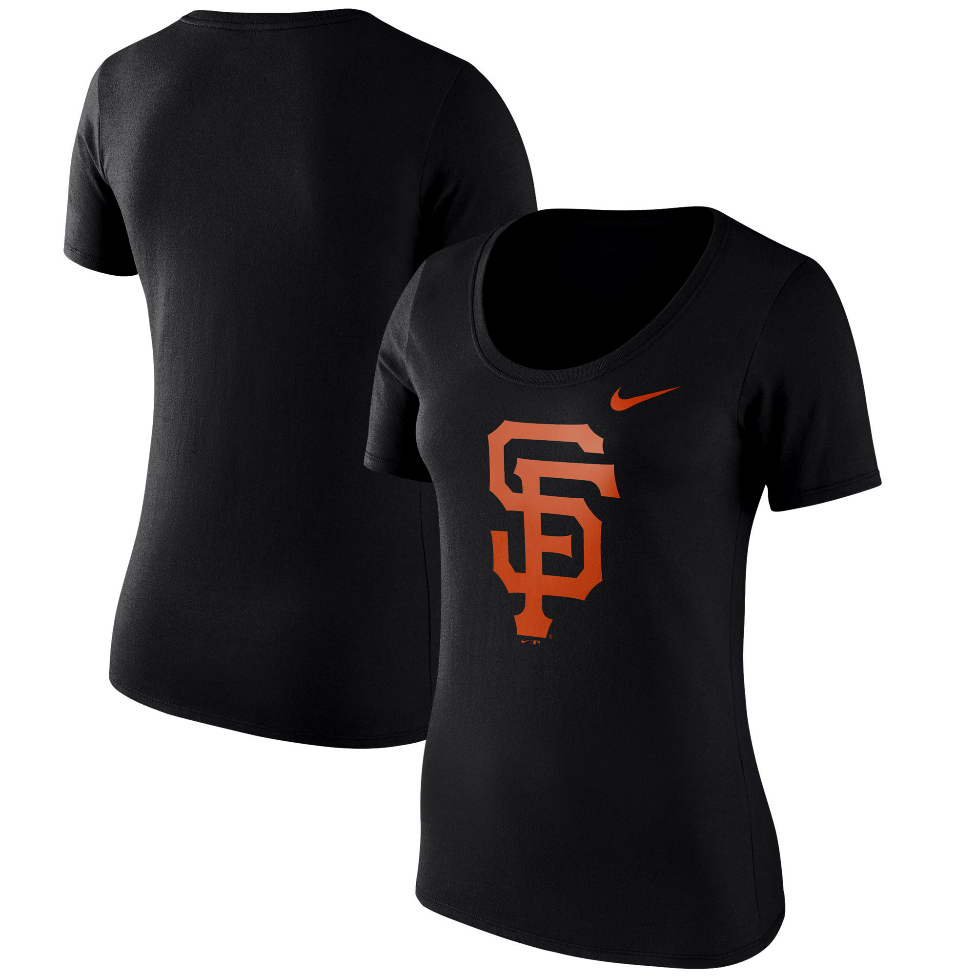 San Francisco Giants Nike Women's Logo Scoop Neck T-Shirt - Black