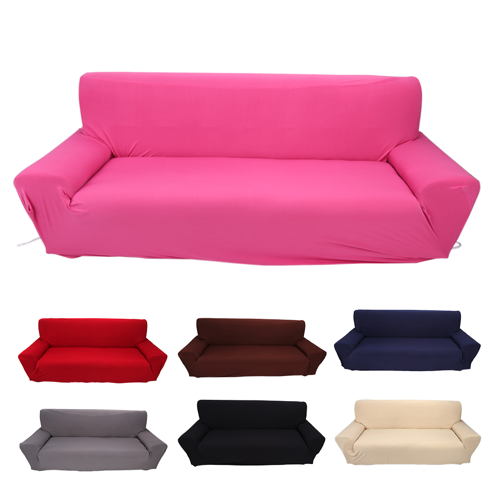 Tbest 7 Solid Colors 3 Seater Household Stretch Elastic Sofa Couch Protective Slipcover Hot Sale, Stretch Sofa Slipcover, 3 Seater Sofa Cover