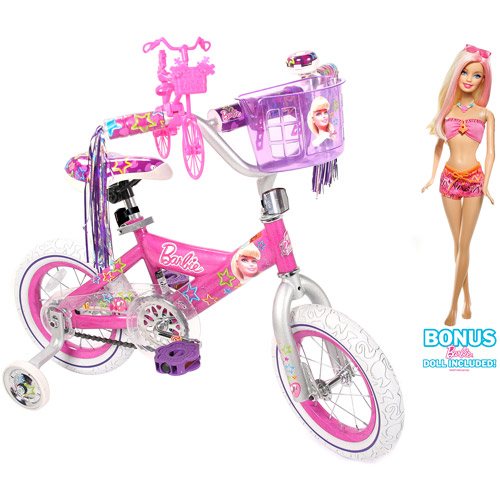 "12"" Barbie Bike W/doll"