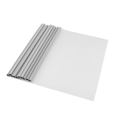 Office Sliding Bar Open Top Side A4 Size Clear Pvc Cut Flush File Folders 10Pcs