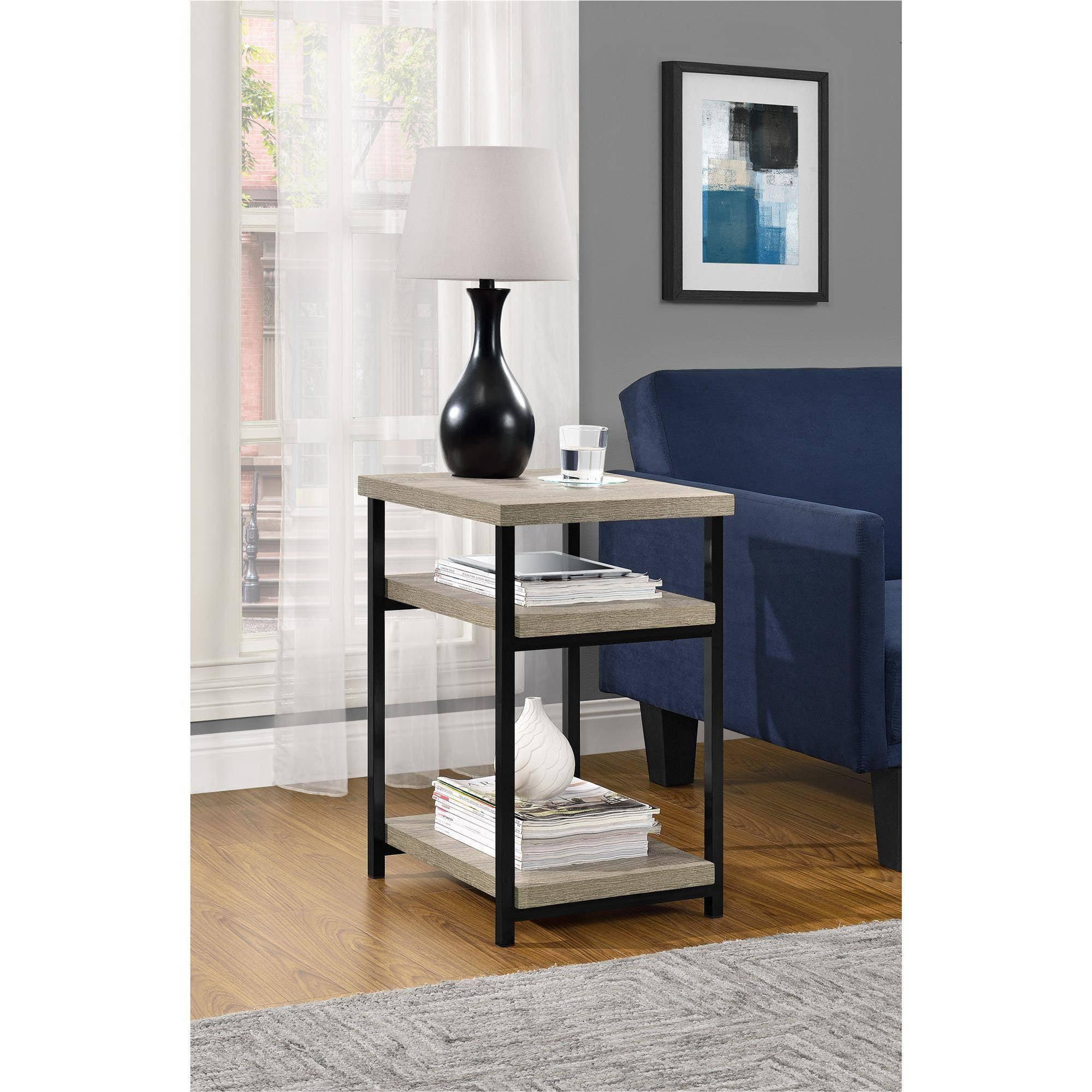 Altra Furniture Carver Square Coffee Table in Black and Sonoma Oak