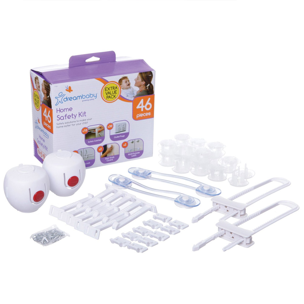 Dreambaby 46 Piece Home Safety Kit Child Baby Proof Outlet Plugs Latches Covers