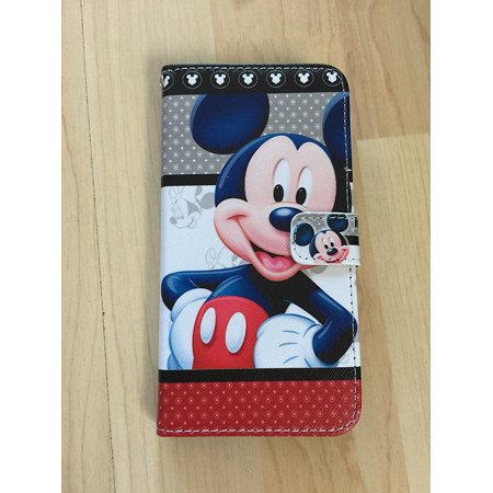 iPhone 8 Case, Mickey Mouse Flip Stand Pu Leather Case Wallet For iPhone 8, High quality case is totally fit for iPhone 8 By Shopfromme (Clear Mickey Mouse Iphone 6 Case)