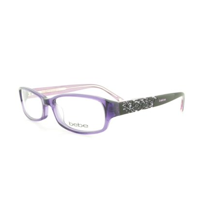 c6cab1148b78 BEBE Eyeglasses BB5063 519 Purple Crystal 52MM - Walmart.com