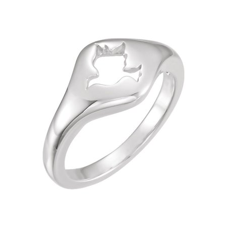 Roy Rose Jewelry 14K White Gold Dove Ring