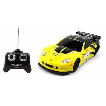 Chevrolet Corvette C6-R R/C Radio Remote Control Car 1:24 Scale (Yellow/Black)