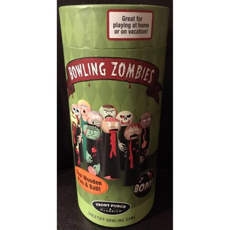 Front Porch Classics Bowling Zombies Tabletop Bowling - Halloween Ghost Bowling Game