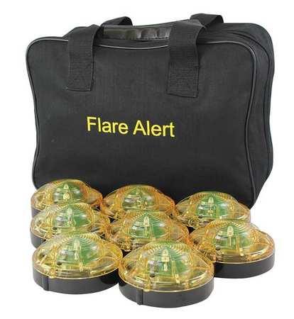 LED Road Flare Kit,1 Watt,Yellow FLAREALERT B8YBP2ONLY