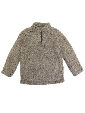 Boys 1/4 Zip Knit Sherpa Pullover