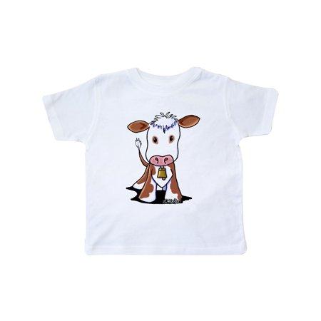 Little Brown Cow Toddler T-Shirt - - Little Pink Monster