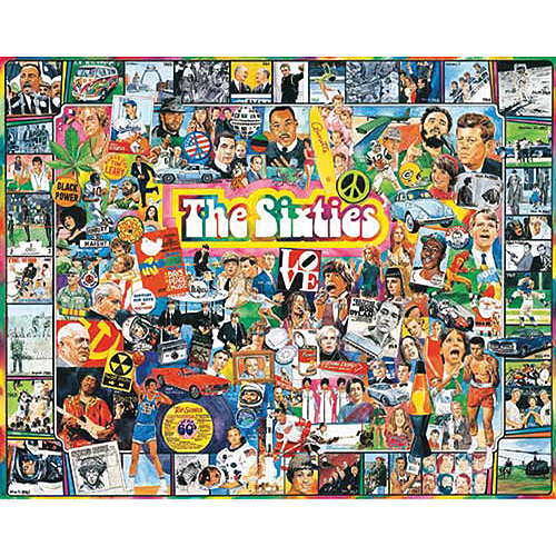 """Jigsaw Puzzle Ultimate Trivia 1000 Pieces 24""""X30""""-The Sixties"""