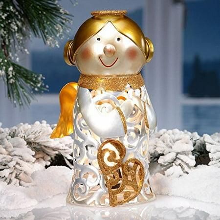 DecoFLAIR Electric Luminary Holiday Angel Figurine