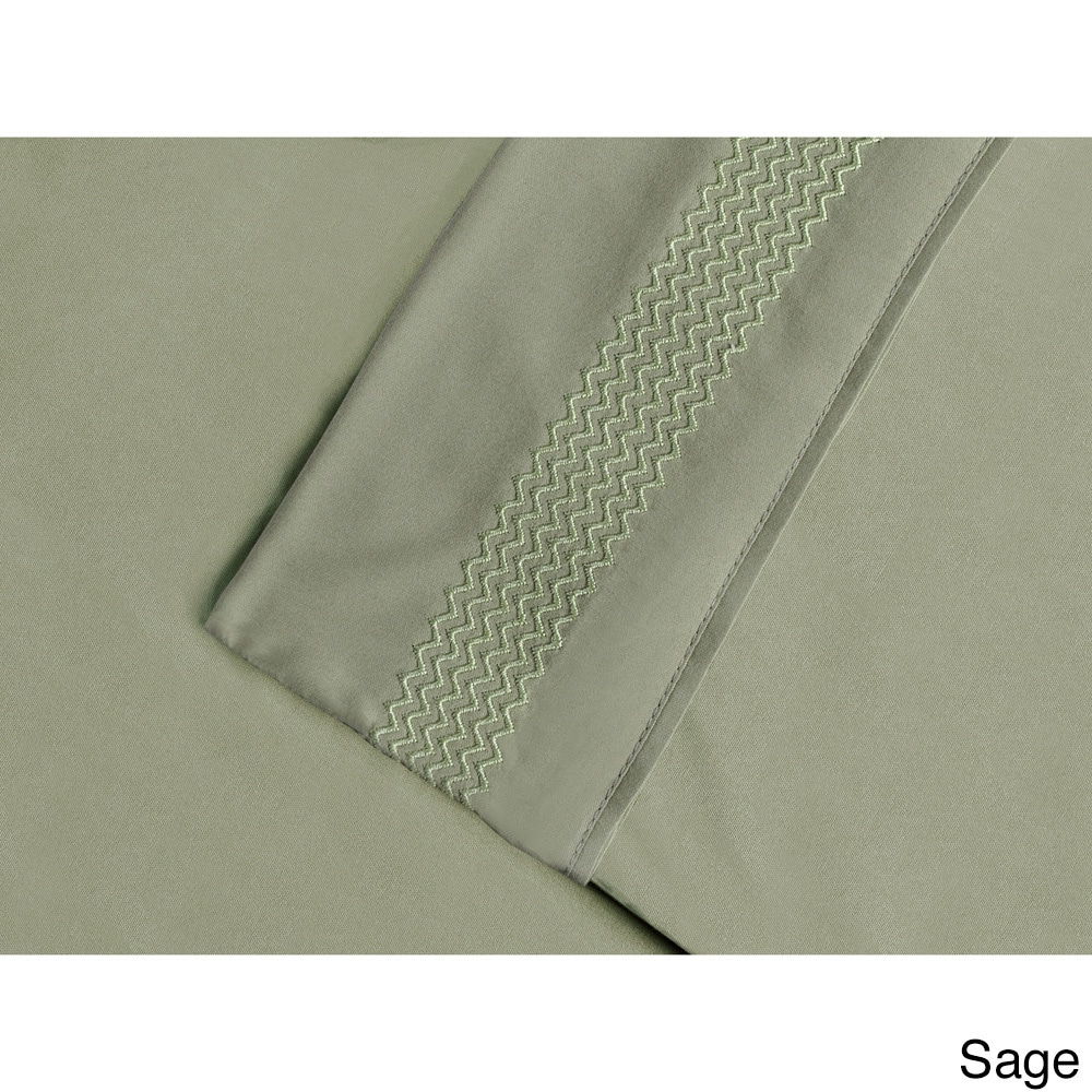 Superior  Wrinkle Resistant Embroidered Microfiber Deep P...
