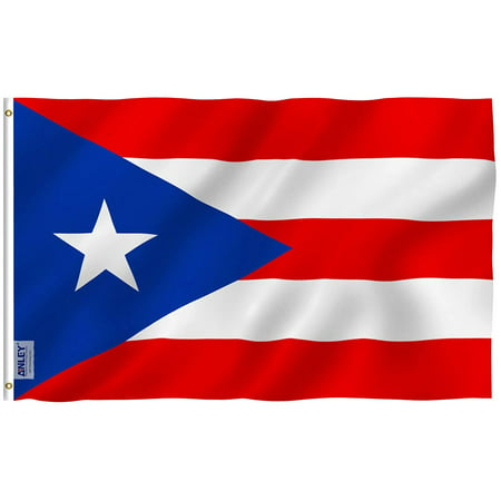 ANLEY Fly Breeze 3x5 Foot Puerto Rico Flag - Vivid Color and UV Fade Resistant - Canvas Header and Double Stitched - Puerto Rican National Flags Polyester with Brass Grommets 3 X 5