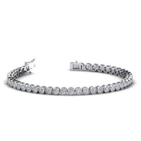 Harry Chad HC10967 4.45 CT Round Shaped Diamond Tennis Bracelet Fine White Gold Jewelry - Color G - VS2 & SI Clarity - image 1 de 1