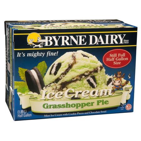 Byrne Dairy Grasshopper Ice Cream Half Gallon Walmartcom