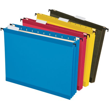 Pendaflex, PFX09213, SureHook Hanging Pockets, 4 / Pack, Blue,Red,Yellow,Standard