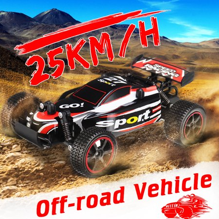 2.4GHz 1:20 Remote Control Car High Speed RC Electric Monster Hobby Truck OffRoad Vehicle Toy For Children Kids Boys (with Car Battery/Remote control/Charger)