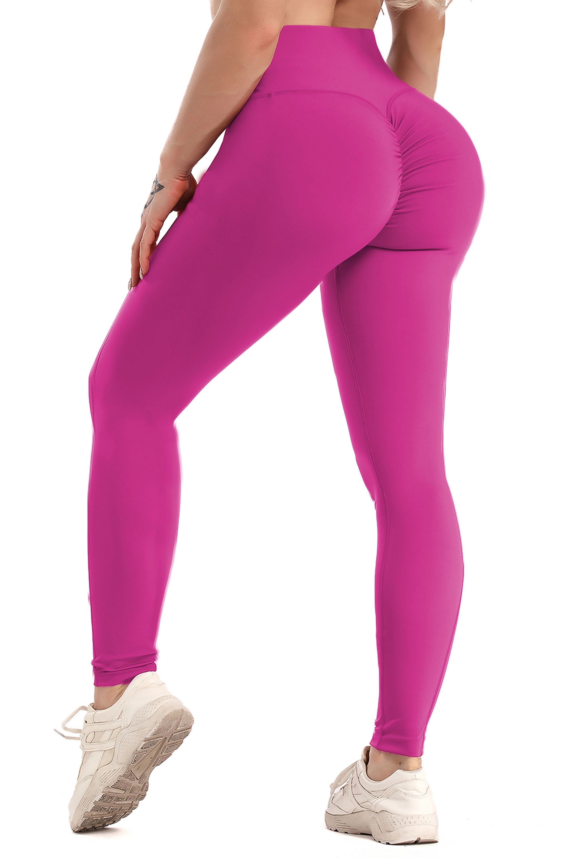 PINK Ladies Yoga Pant Leggings Soft Stretch Fitness Gym Workout High Waist Booty