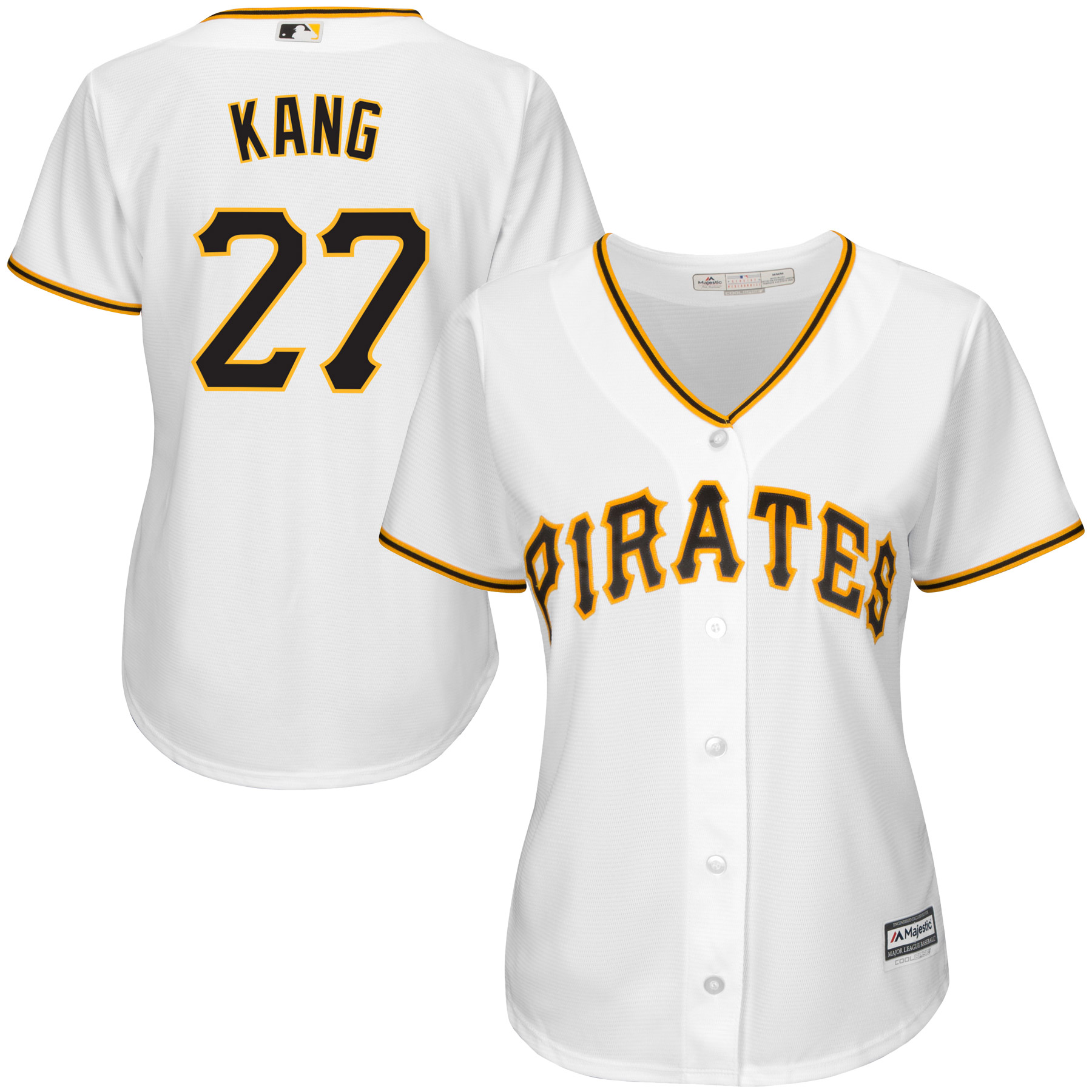 Jung Ho Kang Pittsburgh Pirates Majestic Women's Cool Base Player Jersey - White