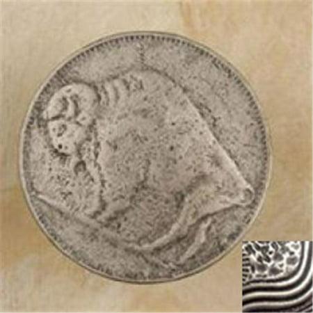 Anne at Home 370-1 Buffalo Head Nickel Knob in Pewter (Buffalo Head Nickel Knob)