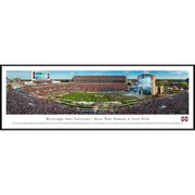 """Mississippi State Bulldogs 40.25"""" x 13.75"""" Standard Framed Panoramic"""