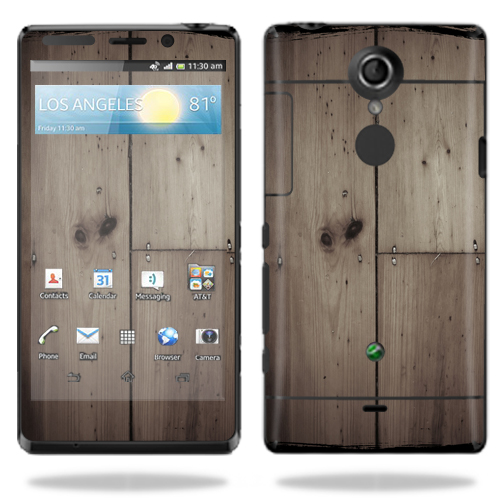 Mightyskins Protective Vinyl Skin Decal Cover for Sony Xperia TL Cell Phone AT&T wrap sticker skins Wooden