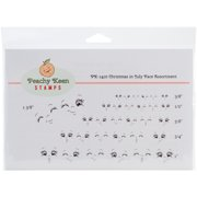 Peachy Keen Stamps Clear Face Assortment 32/Pkg-Christmas In July