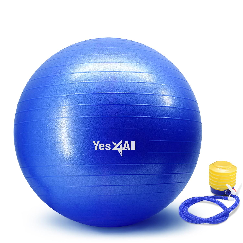 Balance Ball Walmart: Yes4All Yoga Ball With Pump- Anti Burst & Extra Thick