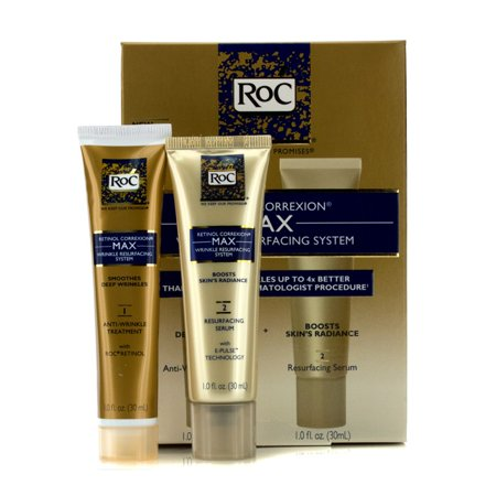 ROC - Retinol Correxion Max Wrinkle Resurfacing System: Anti-Wrinkle Treatment 30ml + Resurfacing Serum 30ml (Retinol Correxion Max Wrinkle Resurfacing System Como Usar)
