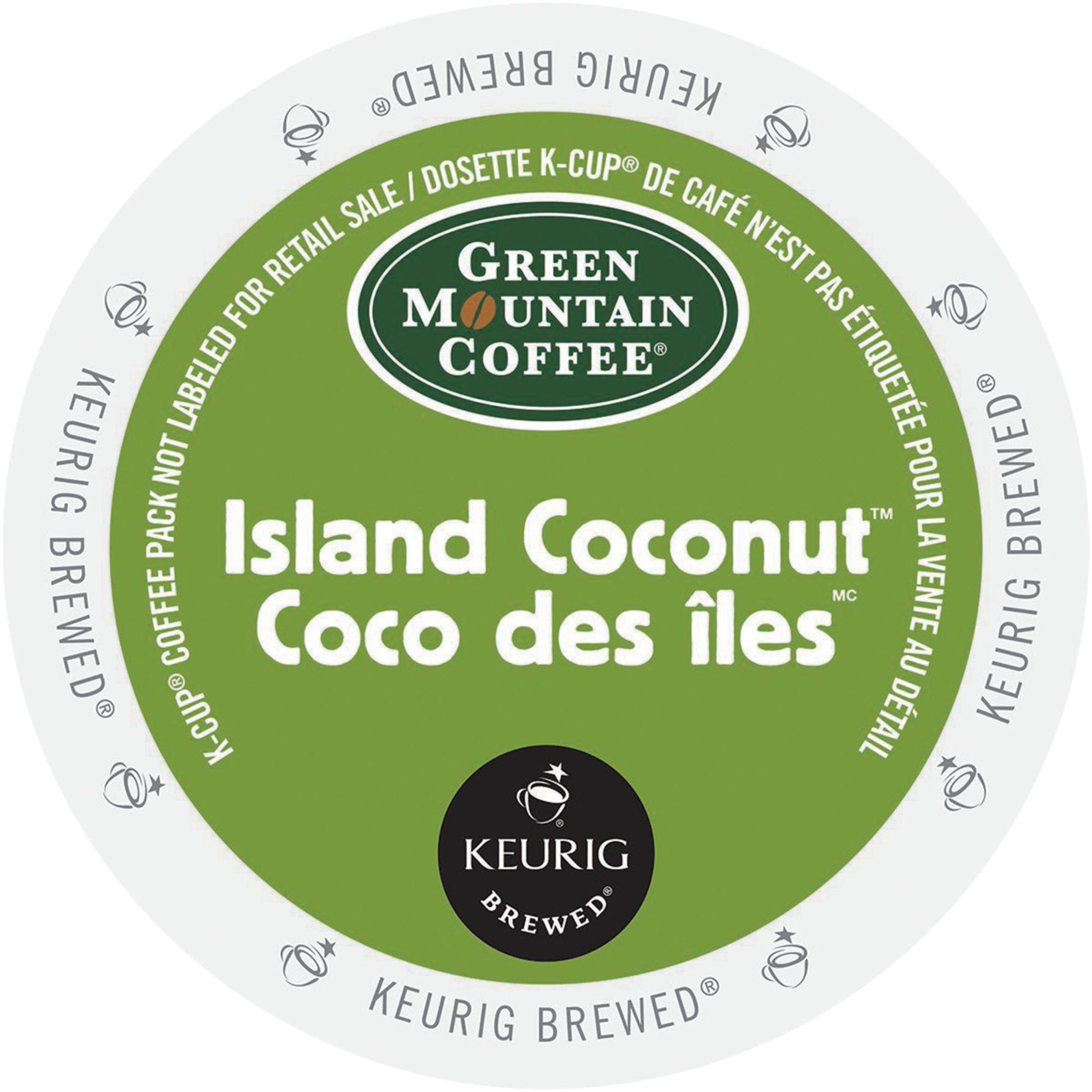 Green Mountain Island Coconut Coffee, K-Cup Portion Pack for Keurig Brewers 96 Count