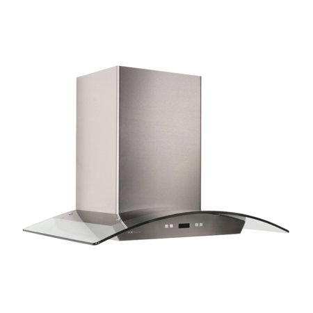 Cavaliere-Euro 30W in. Tempered Glass Canopy Island Range Hood Decorative Island Hood Liner