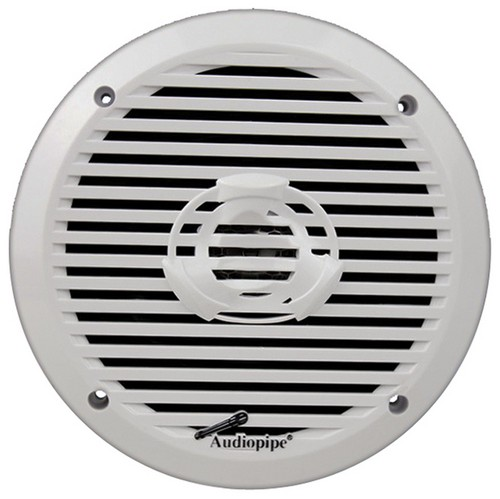 "Audiopipe APSW6032 6.5"" 2-Way Marine Speaker 200W Max White"