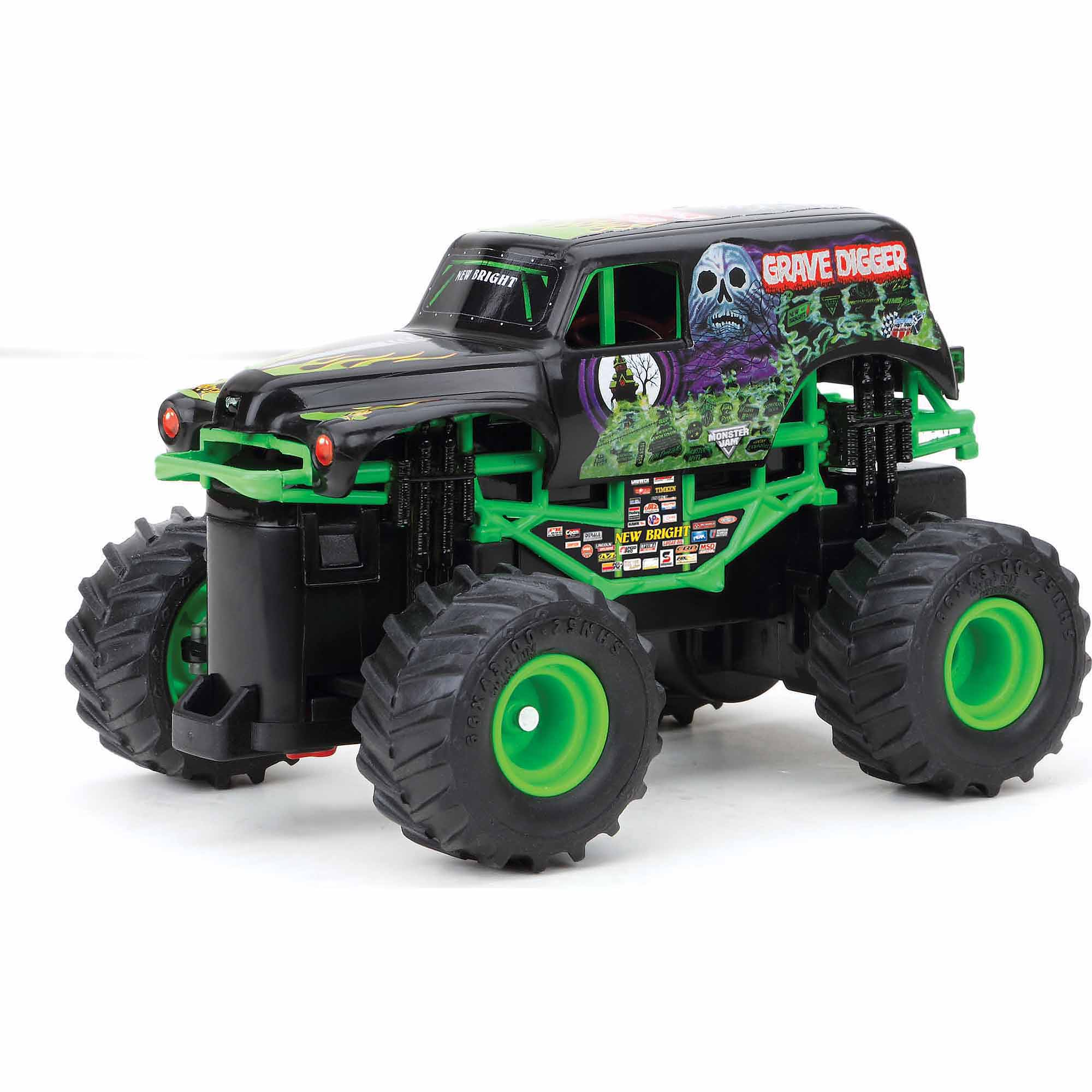 New Bright 1:43 Radio Control Full-Function Monster Jam Grave Digger, Black