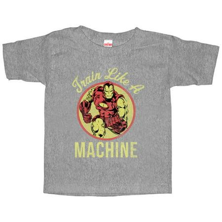 Marvel Iron Man Train Like a Machine Toddler Graphic T Shirt - Iron Man Toddler