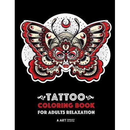 Tattoo Coloring Book for Adults Relaxation