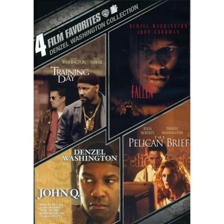 4 Film Favorites  Denzel Washington   Training Day   John Q   Fallen   The Pelican Brief
