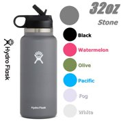 Hydro Flask 32OZ Wide Mouth 2.0 Water Bottle, Straw Lid, Multiple Colors - Stone, New Design