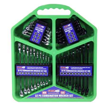 Grip 32 pc Combination Wrench Set SAE/MM